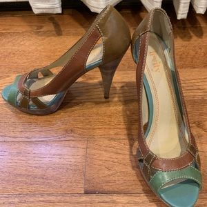 Levity open-toe heels